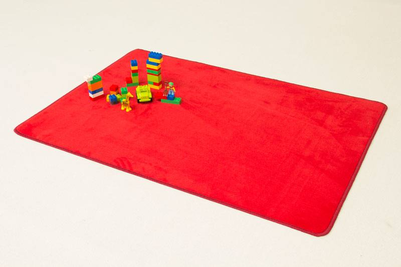 Solid Color Mat Red Playrugs