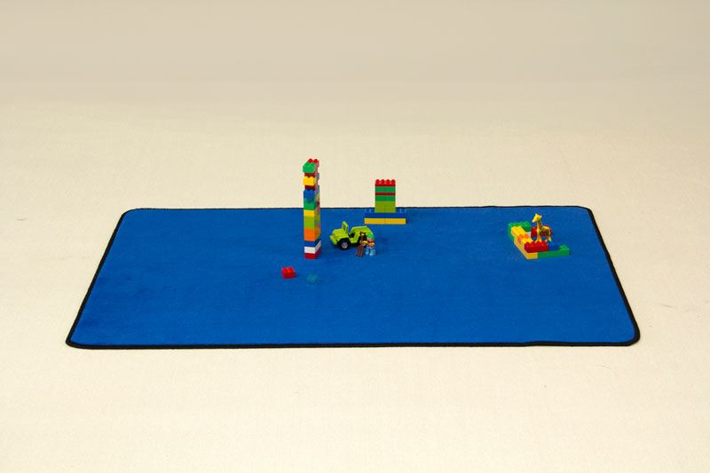 Solid Color Mat Blue Playrugs